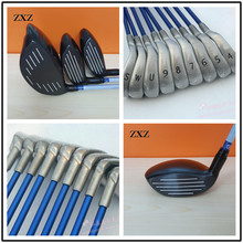 11pcs complete sets Driver+Fairways+Irons puttes Steel Graphite g30 golf irons clubs adjust Blue red limited 123st free shipping
