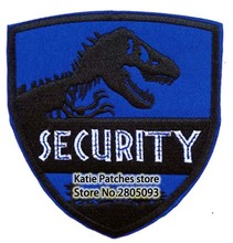 Animal Security Dark Blue Logo Patch, Theme World Shield Shaped Iron on badge,Children DIY Fabric Clothing Accessories(China)