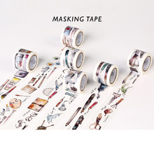 Japenese Washi Tape Scrapbooking Masking Tapes Decorative Adhesive Washi Tape Personal Diary Notebooks Picture Album DIY Tool
