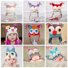2016 Provide Market Hand Beanie hats Winter Owl Handmade baby funky Knitted Hat baby hat crochet pattern 50pcs