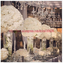 50cm wedding decoration road lead artificial 2/3 round flower ball wedding table centerpiece flower balls Arch flower TONGFENG(China)