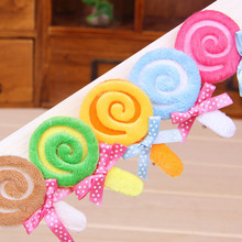 20pcs/lot Candy Designs Cute Pet Grooming Accessories Handmade Boutique Dog Cat Hair Clips 5 Colors New Arrival(China)