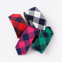 Mantieqingway Brand Ties For Men Classic Cotton Plaid Neckties Bowtie Accessories Casual Red Striped Tie Slim Gravatas 6cm Ties