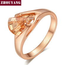 Top Quality High-end Imitation Crystal Rose Gold Color Fashion Ring Austrian Crystals Full Sizes Wholesale ZYR366 ZYR461