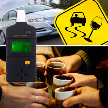 AR2000 Portable Digital High Sensitive Alcohol Tester Meter Detector Breathalyzer with Transparent Mouthpieces(China)