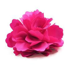 YOST Silk Flower Hair Clip Wedding Corsage Flower Clip 8cm - Rose Red(China)