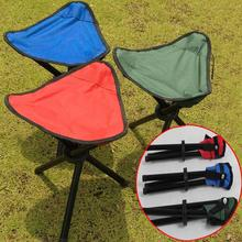 Portable Camping Hiking Folding Foldable Stool Tripod Chair Seat For Fishing Festival Picnic BBQ Beach random color(China)