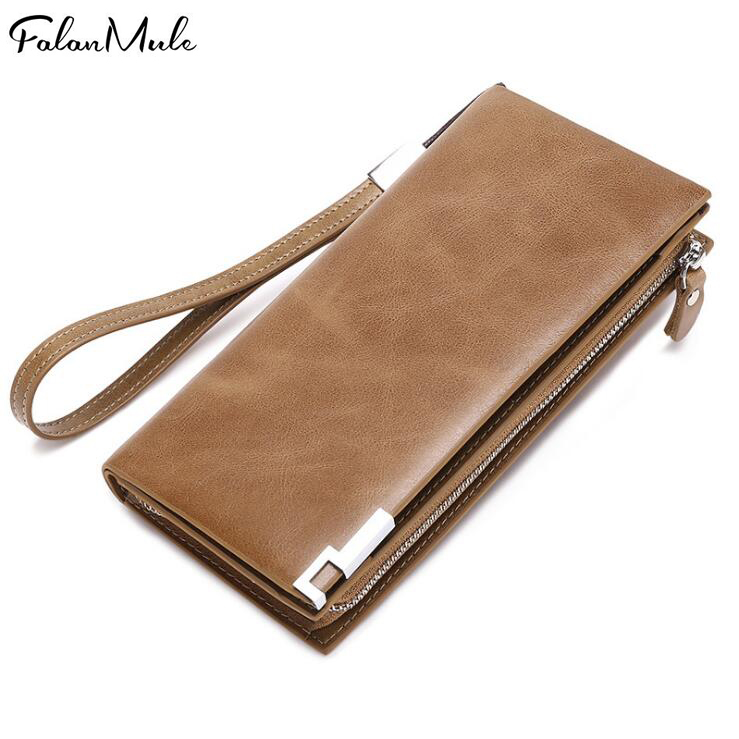 Genuine Leather 2018 Men Wallet Clutch Bag Male Slim Wallet Coin Purse Phone Holder Purse <br>