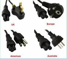 Wholesale 1.2 M AC Power Cord Cable for laptop adapter lead Adapter EU US AU UK Plug All Available