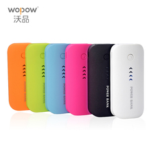 Wopow Power Bank Real 5600mah USB External Mobile Backup Powerbank Battery for iPhone iPod iPad mobile Phone Universal Charger(China)