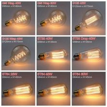 Vintage Edison Bulbs E27 40W/60W AC 220V Incandescent Lamp Retro Filament Light Bulb For Indoor Decorative Lighting