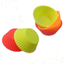 6pcs Cupcake Liners Mold  Muffin Round Silicone Cup Cake Tool Bakeware Baking Pastry Tools Kitchen Gadgets