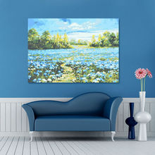 diy oil painting  Blue flowers  coloring by numbers  digital paint by numbers  drawing practice for kids  modular painting
