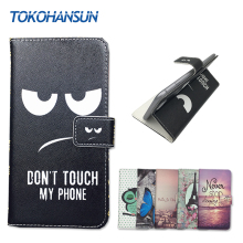 For Aligator S5080 Duo LTE / S5050 Duo HD IPS Case Cover PU Leather Wallet Flip Stand Cartoon TOKOHANSUN Brand