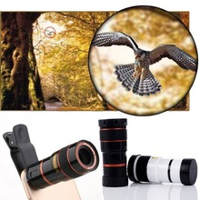 Buy 8X Universal Mobile Phone Zoom Lens Telephoto Lens Zoom Effect High-definition Lens Long Focus Monocular Phone Telescope for $4.44 in AliExpress store