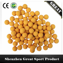 "200 pcs/bag 0.43"" Yellow or Green Reuseable Rubber Ball Made of Solid Nature Rubber for Paintball Training"