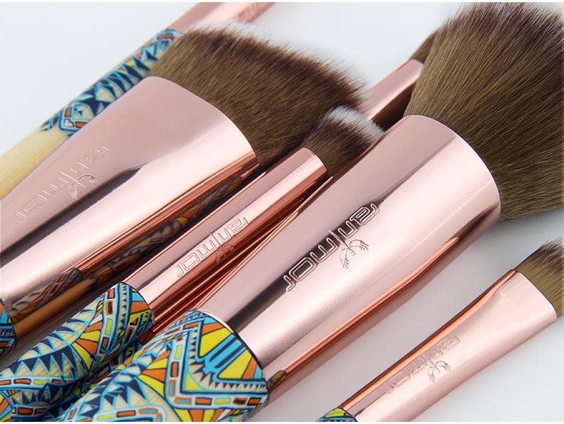 Anmor Marque Nouvelle Arrivée 12 pièces Synthétique Maquillage Pinceaux avec Unique Design Noir Sac Pinceaux Professionnels pour le Maquillage 8