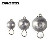 DAGEZI 5pcs/lot Jig Head Lead with Swivle  Weight 3g/5g/0g Lure Fishing jig head fly fishing Carp fishing accessories Pesca