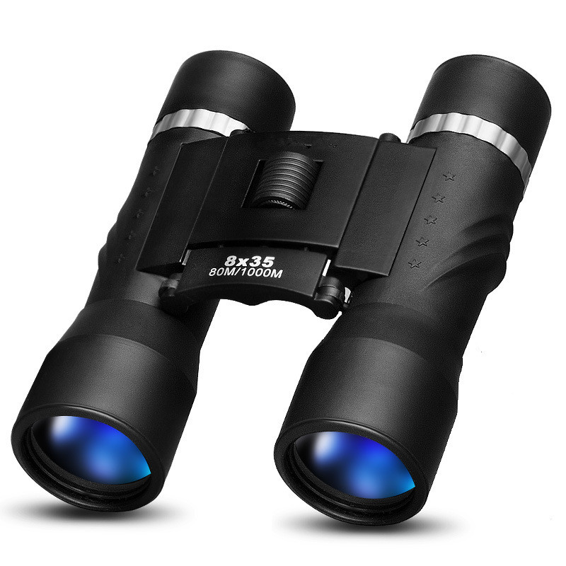 8x35 Hunting Binoculars Powerful Lens Professional Optical Waterproof Folding Telescope Wide Angle Vision Camping Telescopio<br>