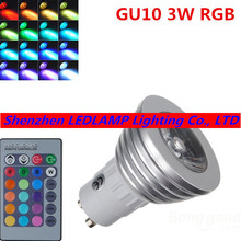 RGB LED Lamp AC85-265V 3W GU10 Led 16 Color Bulb Changeable Lamp multiple colour with Remote Control Led Lighting