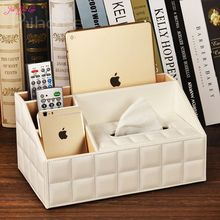 Jia-Gui Luo Tissue Box Leather Multifunctional Tissue Box Coffee Table Desktop Remote Control Creative Napkin Box