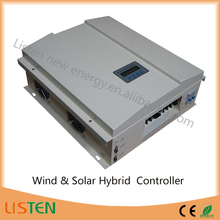 High voltage wind turbine controller 120volt battery 2KW MPPT Boost Buck function controller Wind Solar Hybrid Charge regulator