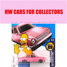 New Arrivals 2017 Hot Wheels 1:64 Pink Simpsons Metal Diecast Cars Collection Kids Toys Vehicle For Children Juguetes Models