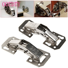 2Pcs Easy Mount Concealed 90 Degree Kitchen Cabinet Cupboard Sprung Door Hinges #S018Y# High Quality