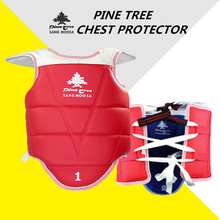 Pinetree blue red color PU leather men women Child kids taekwondo chest protector fighting training competition TKD protectors