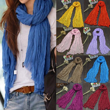 Candy Colors Fashion Soft Trendy Long Voile Scarfs Winter Autumn Warm Scarf Women Scarf Shawl