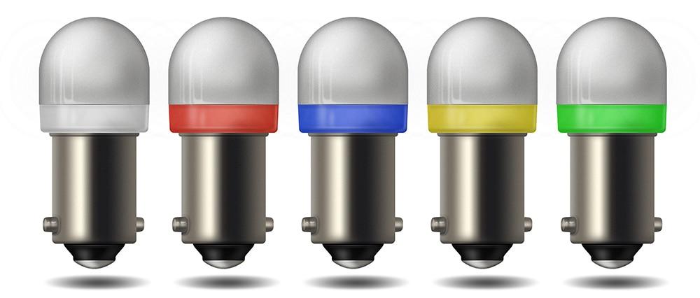 10 Pack Blue Pinball 6.3v LED Round Replacement Bulbs 44//47 Bayonet Base BA9S
