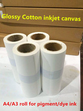 A4/A3 roll Glossy surface 100% cotton canvas roll for famous oil painting print  0.297m*18m
