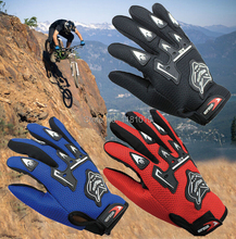 100% Breathable Motorcycle Gloves Motorbike Motocross MX ATV Quad Dirt Trail Pit Bike Skating Motorcycle Gloves winter summer(China)