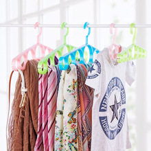 1PC Multifunction Scarf Hanger Drying 7 Ring Hole Round Tie Clothes Belt Storage Rack Closet 360 Degrees Rotating Hanger Drying(China)