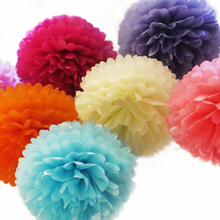 5PCS Big Size DIY Tissue Paper Pom Poms14''(35CM) Paper Flower For Home Garden Wedding Party Decoration &Wedding Car Decoration(China)