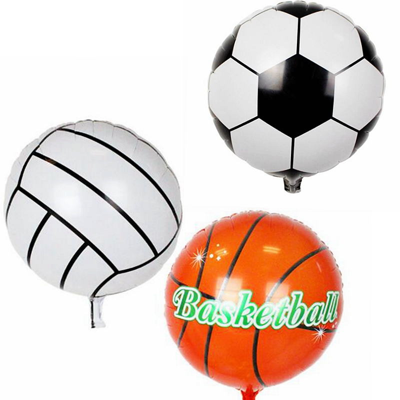 New Football Basketball baseball Volleyball Foil Balloons Outdoor Sports Soccer Kids Birthday Party Decoration globos Toys Gift(China)