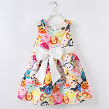 Summer Fashion Autumn 2016 Girls Dress Girl Cartoon Dress Baby Clothes Child Clothing Kids Clothes for Age 2 3 4 5 6 7 Years Old