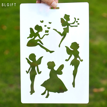 DIY Layering Fairy Angel Girl Design Stencil for Wall Painting Scrapbooking Cards Photo Album Crafts Scrapbooking Accessories