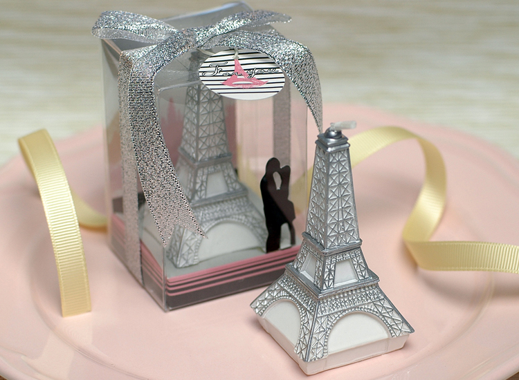 Creative Mini Eiffel Tower Birthday Candle Romantic Valentine 's Day Pleading Art Cake Candle Party Wedding Kids Birthday Gifts