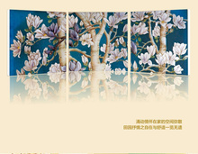 3 Panels Almond Blossom Flower Oil Painting Larger Wall Art for Living Room Decoration on Canvas Print