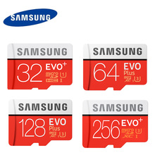 SAMSUNG Memory Card Micro SD Card EVO+ EVO Plus U3 256GB 128GB 64GB U1 32GB 16GB Class10 TF Card C10 SDHC/SDXC(China)