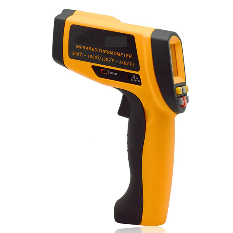 Handheld Non-contact LCD display infrared thermometer 200-1850 Celsius (392~3362 Fahrenheit) temperature measuring gun (7)
