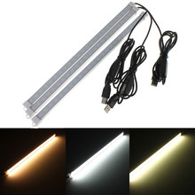 Adjustable 35CM 7W SMD 5630 24 LED Rigid Strip Hard LED Bar Light USB Switch Tube Lamp DC5V