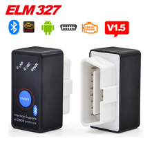 V1.5 MINI ELM327 Bluetooth Power Switch ELM 327 Version 1.5 OBD2 / OBDII for Android Torque Car Code Scanner free shipping