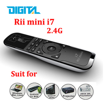 Original Mini Fly Air Mouse Rii i7 2.4G Wireless Remote Combo Builtin 6 Axis for PC/Android Tv Box/X360/PS3 Motion Sensing Gamer