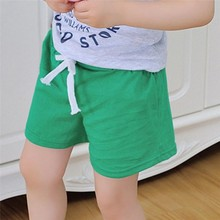 Boys Shorts Kids Clothes 2017 Children Summer Beach Shorts for Boys Girls Clothing Solid Color Cotton Unisex Baby Shorts Fille