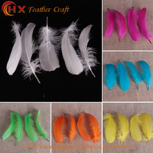 50pcs random colors 15-20cm DIY Earrings Jewelry Accessories Floating Feathers Goose Feathers