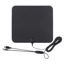 Indoor Digital TV Antenna USB Power Supply 50 Mile Range with 5M Coax Cable Signal Booster Amplifier High Reception HDTV