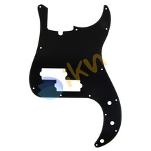 NEW Standard Precision Bass Pickguard Plate, Black 1Ply 13 Holes