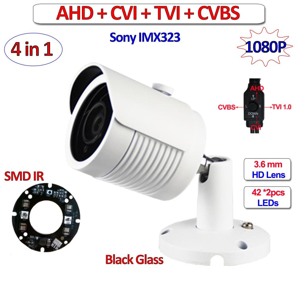 4in1 1080P 720P AHD TVI CVI cctv camera outdoor IMX323 1MP 2MP Night Vision security camera, CVBS, UTC, 3DNR, OSD, 3.6mm Lens<br>
